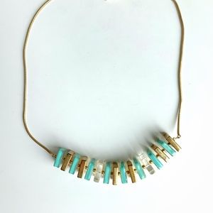 Kate Spade Acrylic Square Turquoise Necklace
